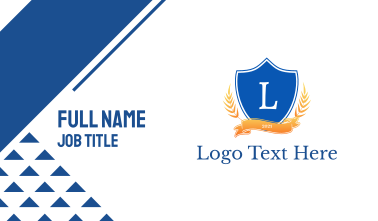Classical Shield Emblem Business Card
