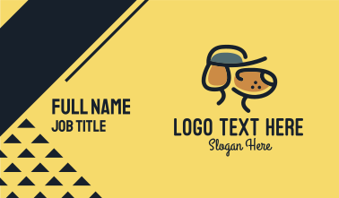 Simple Dog Hat Business Card