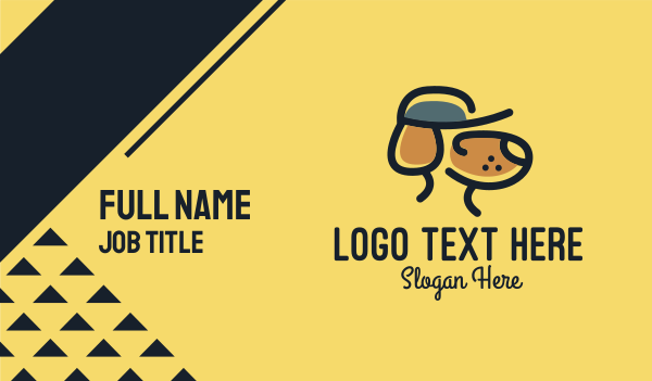 animal welfare - Simple Dog Hat Business card horizontal design