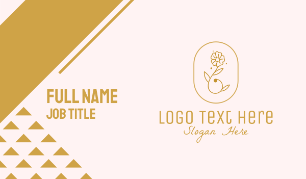 blooming - Beauty Gold Flower  Business card horizontal design