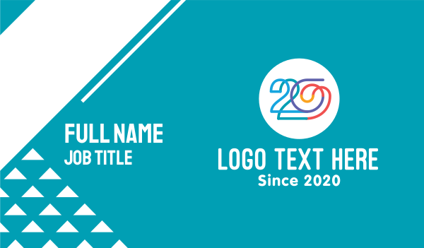 period - Colorful Community Number 20 Business card horizontal design