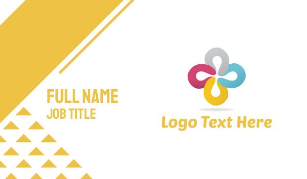 home accessories - Flower Cross Business card horizontal design