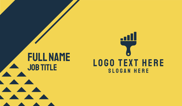 progress - Paint Signal  Business card horizontal design