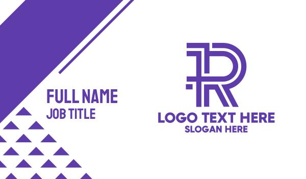 magazine - Purple Noir R Business card horizontal design