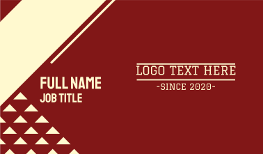 Varsity College Text Business Card