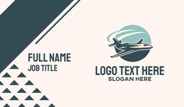 recreation - Jet Plane Flight Business card horizontal design