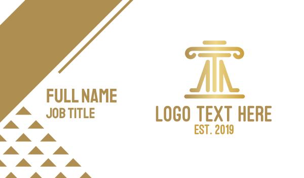 judge - Elegant Law Firm Pillar Business card horizontal design