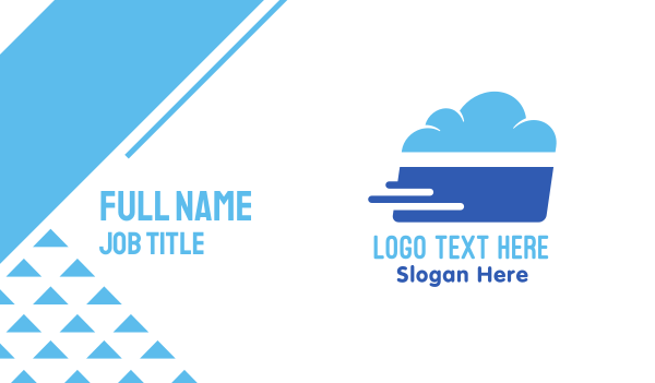 credit card - Credit Cloud Business card horizontal design