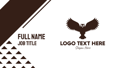 Brown Flying Owl Business Card