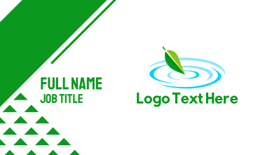 Leaf Pond Business Card