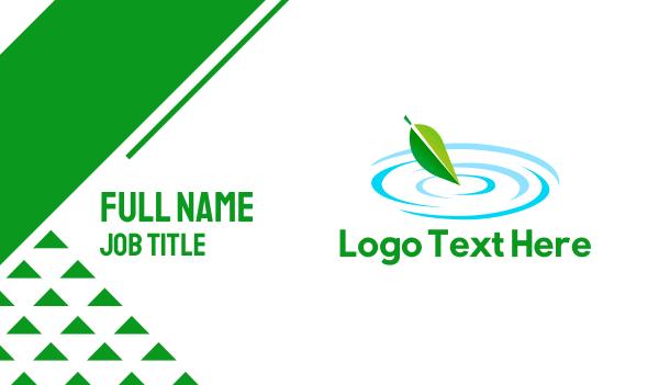 pond - Leaf Pond Business card horizontal design