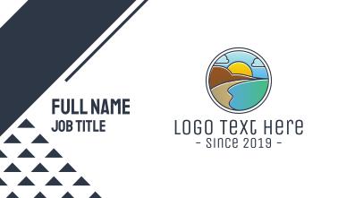 Mountain Lagoon Badge Business Card