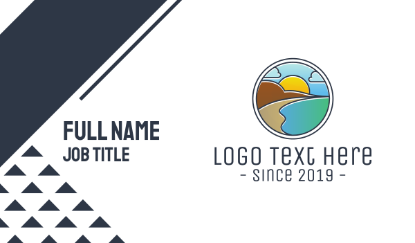 harbor - Mountain Lagoon Badge Business card horizontal design