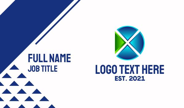 twitch stream - Digital Media Letter X  Business card horizontal design