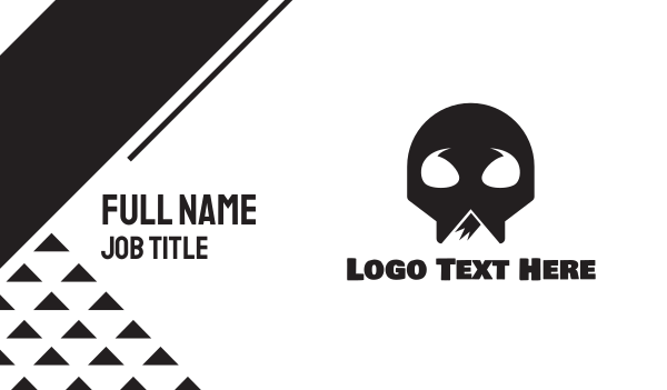 alpine - Skeleton Skull Mountain Business card horizontal design
