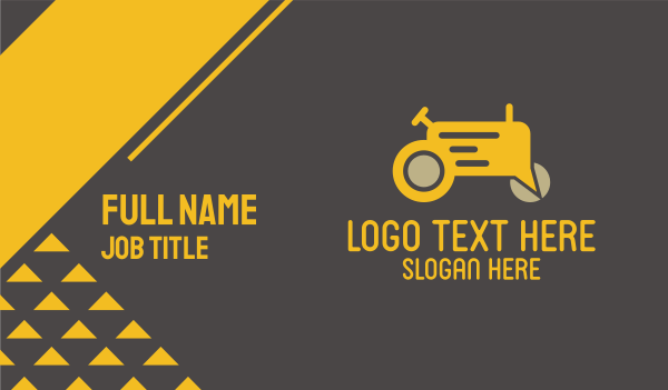 talking - Farm Tractor Forum Business card horizontal design