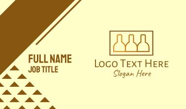 Brown Beer Bottle Stack Business Card