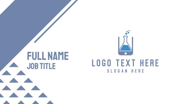 chromatography - Lab Application Business card horizontal design