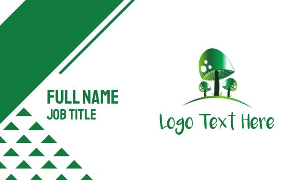 toxic - Green Mushrooms Business card horizontal design