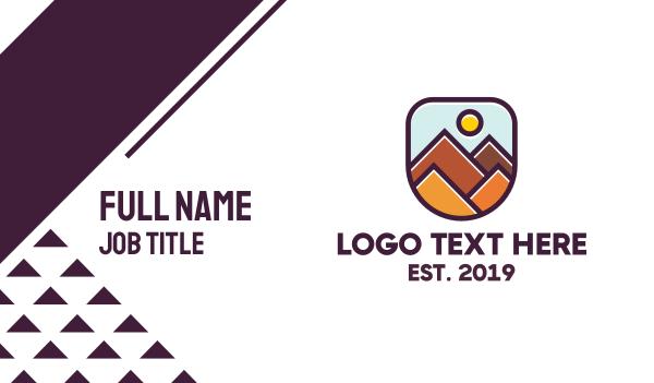 trip - Geometric Rocky Mountain Business card horizontal design