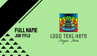 Multicolor Spa Mosaic Business Card