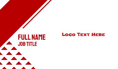 Martial Arts Text Font Business Card