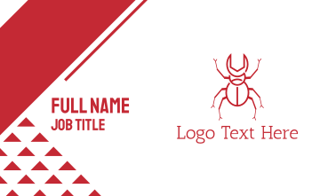 Wrench Beetle Business Card