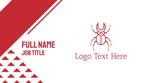 pest - Wrench Beetle Business card horizontal design