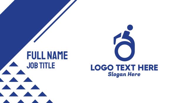 therapist - Wheelchair Minimalist Business card horizontal design