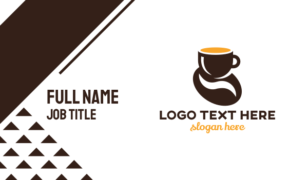 cup - Coffee Bean Business card horizontal design