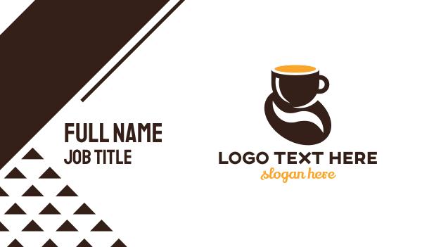 latte - Coffee Bean Business card horizontal design