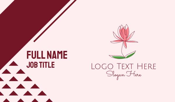 blooming - Minimalist Flower Bloom  Business card horizontal design