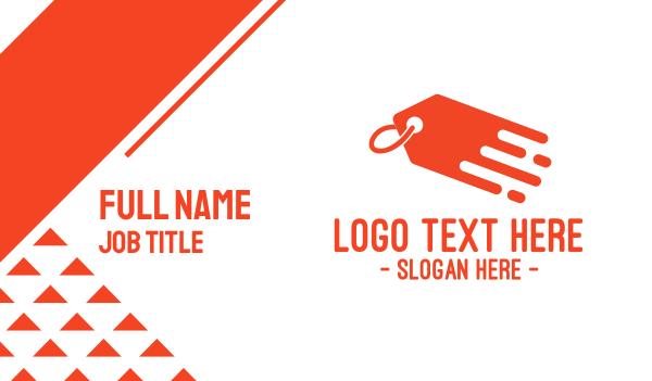 bargain - Orange Price Tag Business card horizontal design