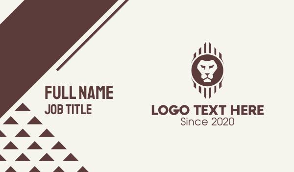 wildlife preservation - Brown Wild Lion Business card horizontal design