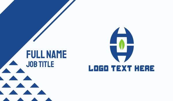 letter h - Letter H Leaf Business card horizontal design