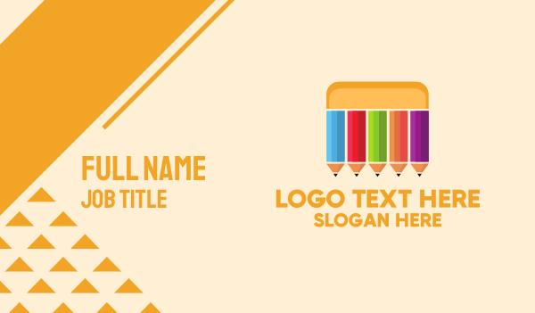 color - Pencil Box Business card horizontal design