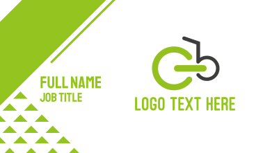 Green Bicycle Business Card