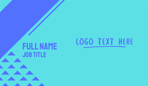 lesson - Street Art Wordmark Business card horizontal design