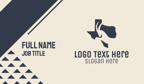 animal welfare - Texas Map Gazelle Business card horizontal design
