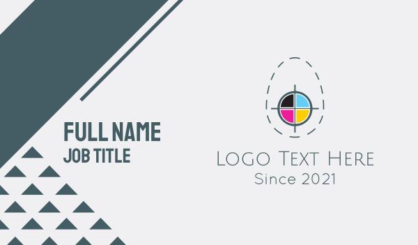 color - Egg Print Colors Business card horizontal design