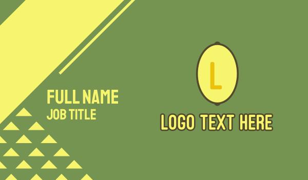 lemonade - Yellow Lemon Lettermark Business card horizontal design