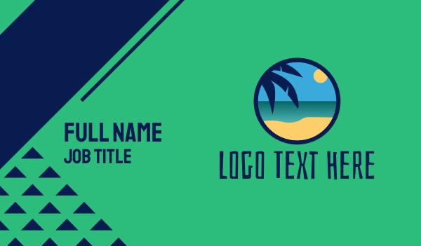 tiki - Tropical Coastal Beach Business card horizontal design