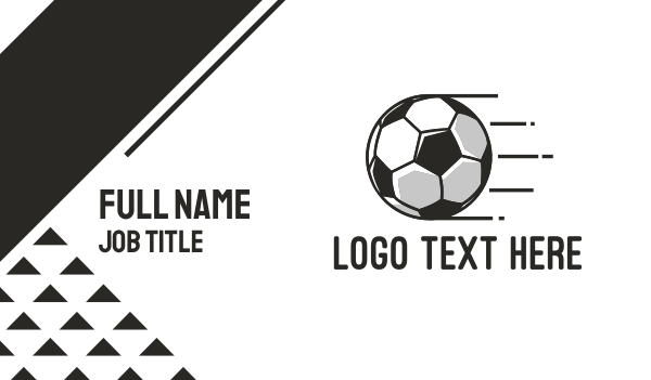 sport - Soccer Football Business card horizontal design
