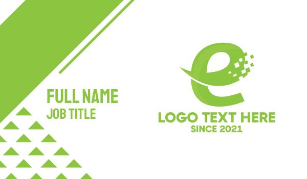 web designer - Digital E-commerce Letter E Business card horizontal design