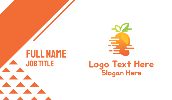 pinoy - Fast Mango Business card horizontal design