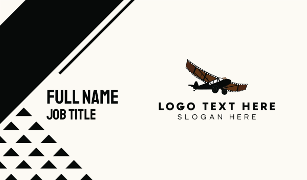 broadway - Film Airplane Business card horizontal design