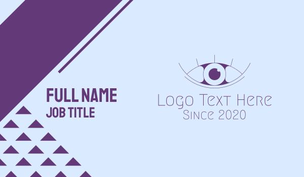 mascara - Minimalist Eye & Eyelashes Business card horizontal design