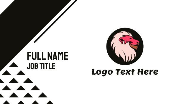 jungle - Pink Lion Business card horizontal design