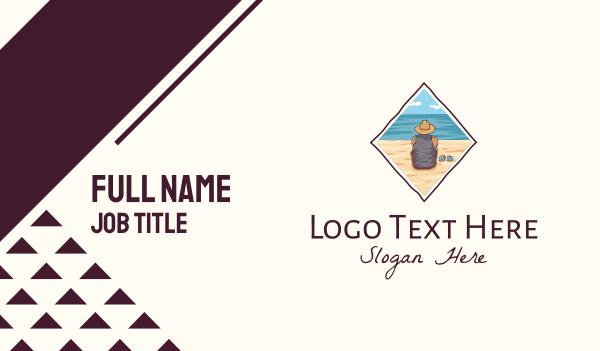 lagoon - Summer Beach Islander Business card horizontal design