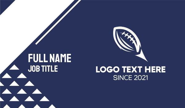 sporting event - White American Football  Business card horizontal design
